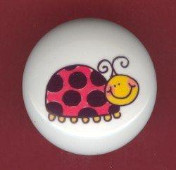 LADYBUG #2 ~ Ceramic Knobs Pulls