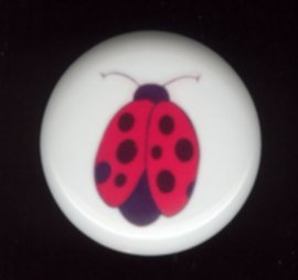 LADYBUG #3 ~ Ceramic Knobs Pulls
