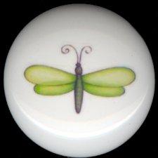 DRAGONFLY #1 ~ Ceramic Knobs Knob Pulls