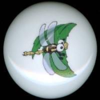 DRAGONFLY Dragon Fly #2 Ceramic Drawer Knobs