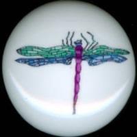 DRAGONFLY Dragon Fly #6 Ceramic Drawer Knobs