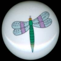 DRAGONFLY Dragon Fly #7 Ceramic Drawer Knobs