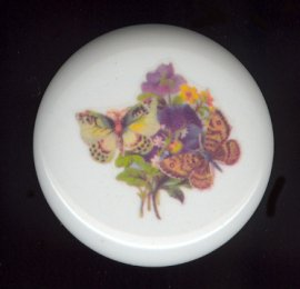 Victorian Butterfly 3 Ceramic Knob KNOBS
