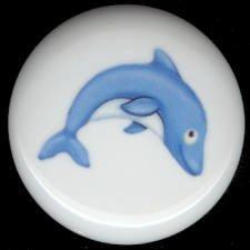 Sweet BLUE DOLPHIN #1 Ceramic Knob KNOBS