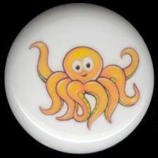 Whimsical Sea Life OCTOPUS Ceramic Knob KNOBS