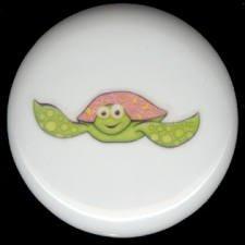 Whimsical Sea Life TURTLE Ceramic Knob KNOBS