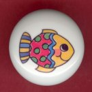 Whimsical FISH #1 Ceramic Knob KNOBS