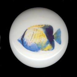 TROPICAL FISH #1 Ceramic Knob KNOBS