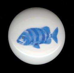 TROPICAL FISH #5 Ceramic Knob KNOBS