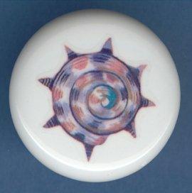 SEA SHELL Seashell #3 Ceramic Knob KNOBS