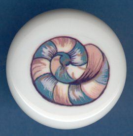 SEA SHELL Seashell #4 Ceramic Knob KNOBS