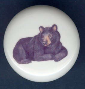 BLACK BEAR ~ Ceramic Knobs Pulls