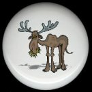 Rustic Lodge Decor - MOOSE #2 ~ Ceramic Knobs Pulls