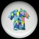 Tropical HAWAIIAN SHIRT #1 Ceramic Knobs Pulls Free S/H