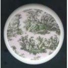 Hunter GREEN TOILE ~ Ceramic Drawer Knobs Pulls