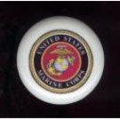 United States MARINE CORPS USMC ~ Ceramic Drawer Knobs Pulls Free S/H