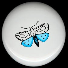 MOTH #2 Ceramic Drawer Knobs Pulls FREE S/H