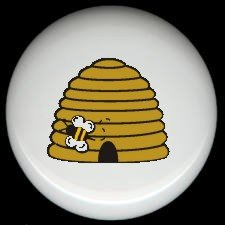 Bumblebee BEE HIVE #2 ~ Ceramic Drawer Knobs Pulls FREE S/H