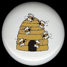 Bumblebee BEE HIVE #3 ~ Ceramic Drawer Knobs Pulls FREE S/H