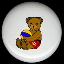 BEACHBALL BEAR #3 ~ Ceramic Knobs Pulls FREE S/H