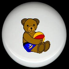 BEACHBALL BEAR #4 ~ Ceramic Knobs Pulls FREE S/H