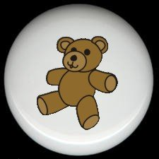 TEDDY BEAR ~ Ceramic Knobs Pulls FREE S/H