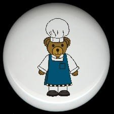 CHEF BEAR Cooking Kitchen ~ Ceramic Knobs Pulls FREE S/H
