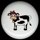 Farm Animal COUNTRY COW #3  Ceramic Drawer Knobs Pulls FREE S/H