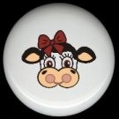 Farm Animal COUNTRY COW #4  Ceramic Drawer Knobs Pulls FREE S/H