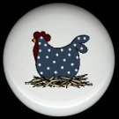 POLKA DOT CHICKEN  #3 Ceramic Drawer Knobs Pulls FREE S/H