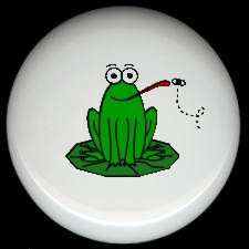 Whimsical FROG #1 Ceramic Drawer Knobs Pulls FREE S/H