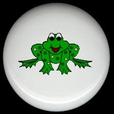 Whimsical FROG #3 Ceramic Drawer Knobs Pulls FREE S/H