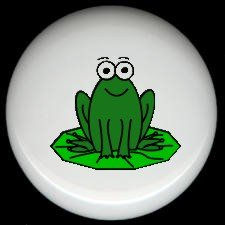 Whimsical FROG #4 Ceramic Drawer Knobs Pulls FREE S/H
