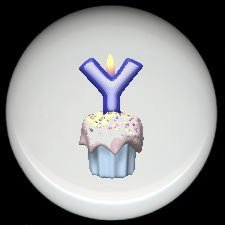 CUPCAKE CANDLE Alphabet LETTER Y ~ Ceramic Drawer Knobs Pulls