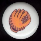 BASEBALL MITT GLOVE Mit ~ Ceramic Drawer Knobs Pulls