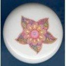 Psychedelic RETRO FLOWER #2 Ceramic Knobs Pulls