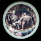 STEAMPUNK LADY with CROW & SKELETON Ceramic Drawer Knobs