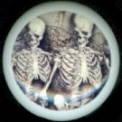 MR and MRS SKELETON Spooky HALLOWEEN Ceramic Drawer Knobs