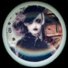 Stylish Chic ZOMBIE LADY with HAT Ceramic Drawer Knobs