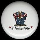 ALL AMERICAN CHICKEN #2 Ceramic KNOBS PULLS Knob
