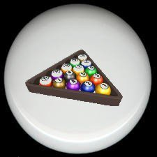 RACK 'EM POOL BILLARDS (A) ~ Ceramic Drawer Knobs Pulls