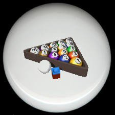 Cue Ball & Chalk RACK 'EM POOL BILLARDS (B) ~ Ceramic Drawer Knobs Pulls
