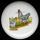 ROOSTERS on the FARM #1 ~ Ceramic Knobs Pulls