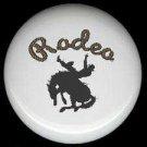RODEO COWBOY on Bucking BRONCO Western Decor ~ Ceramic Knob Knobs