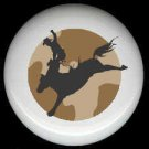 HORSE and COWBOY Bronco Rider ~ Ceramic Knob Knobs - Free Shipping