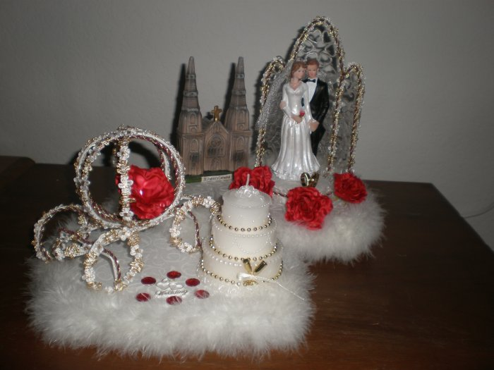 wedding cake topper decoration