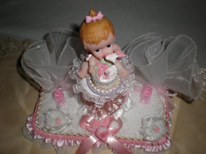 BABY GIRL CAKE TOPPER PARTY CENTERPICE DECORATION