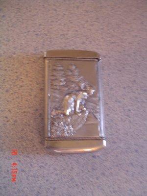 ANTIQUE ART NOUVEAU REPOUSSE SILVER BALLERINA DANCER & FAIRY LADY MATCHBOX MATCH BOX SAFE