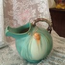 VINTAGE ✿ ROSEVILLE  ✿ GREEN PINECONE TABLEWARE ICE LIP BALL PITCHER JUG
