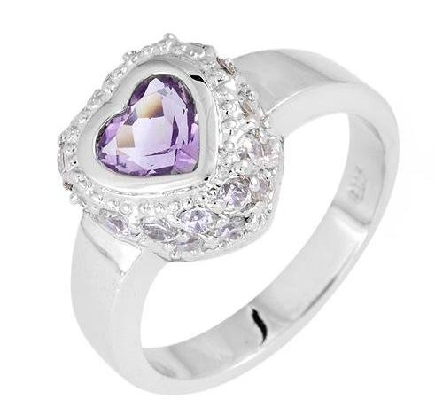 Heart Amethyst Ring